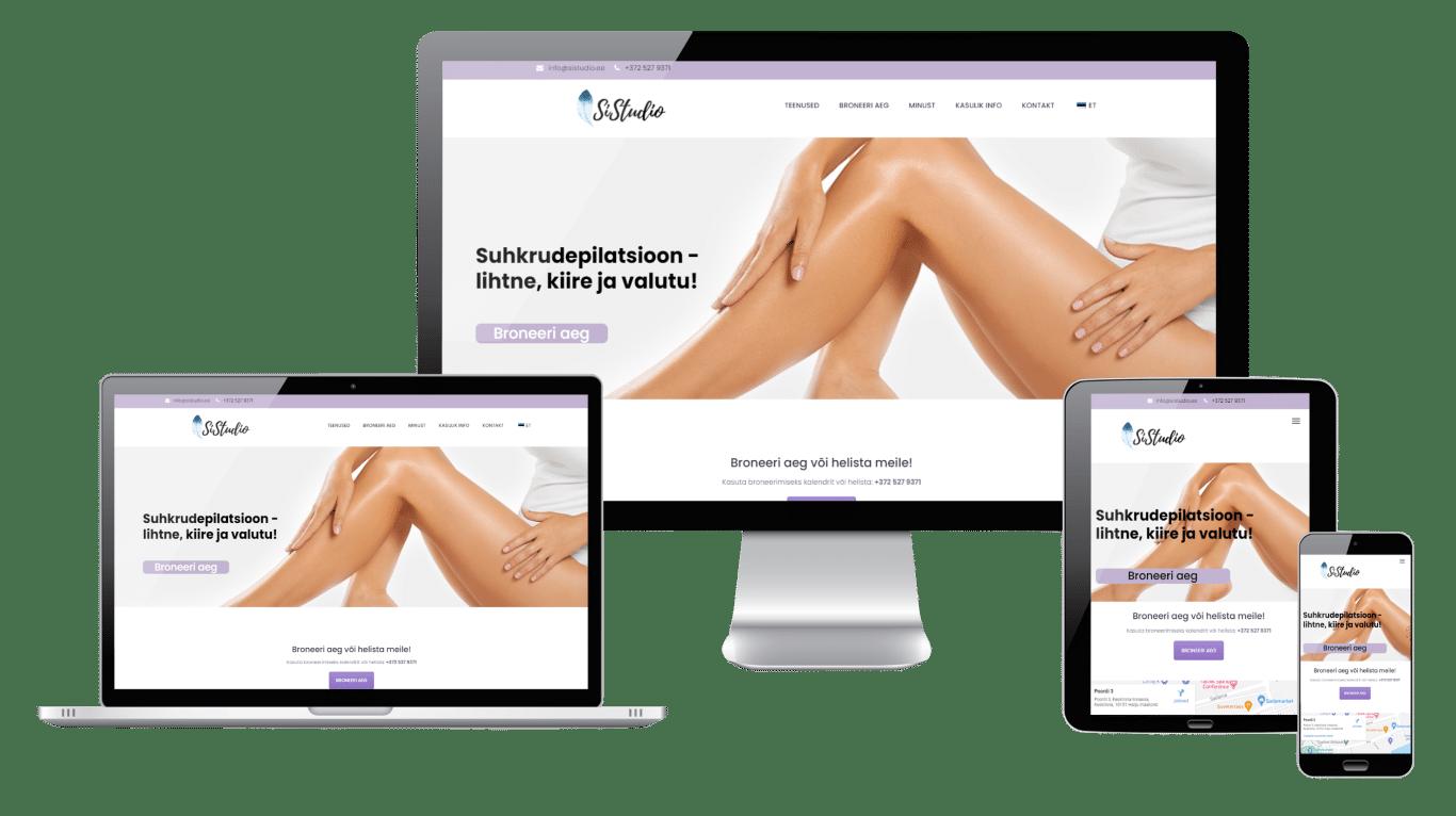 Sistudio CIDESCO kosmetoloog, kodulehe tegemine ja hooldus